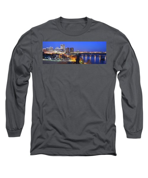 Tracks Into The City Wide Angle Long Sleeve T-Shirt