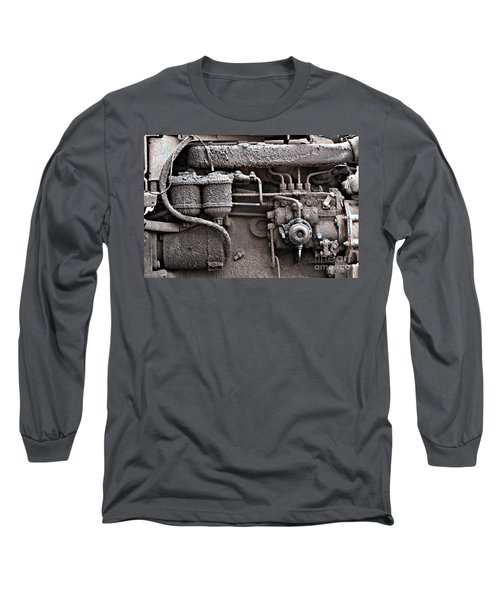 Long Sleeve T-Shirt featuring the photograph Tractor Engine II by Stephen Mitchell