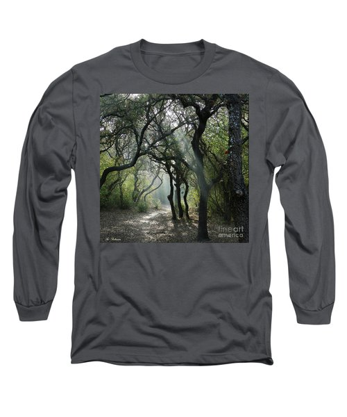 Long Sleeve T-Shirt featuring the photograph Trail Of Light by Arik Baltinester