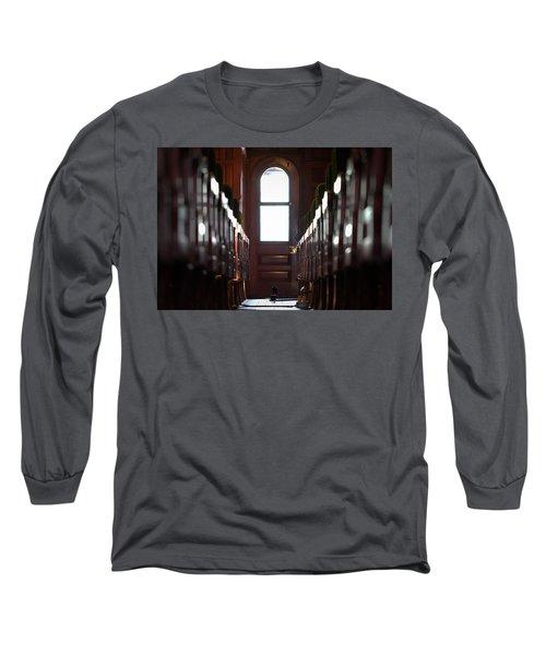 Train Car Interior Long Sleeve T-Shirt by Joseph Skompski