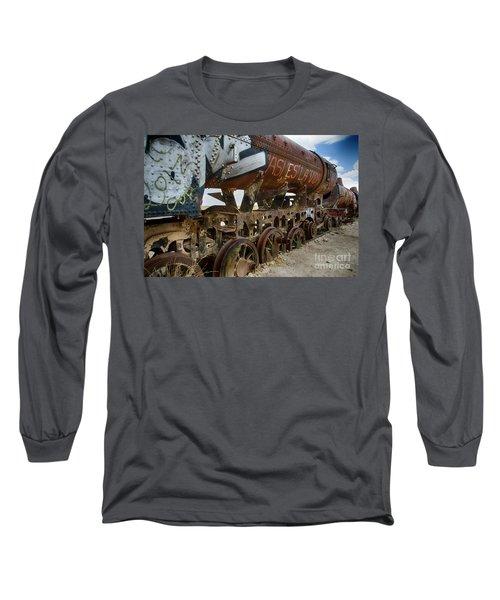 Train Graveyard Uyuni Bolivia 14 Long Sleeve T-Shirt