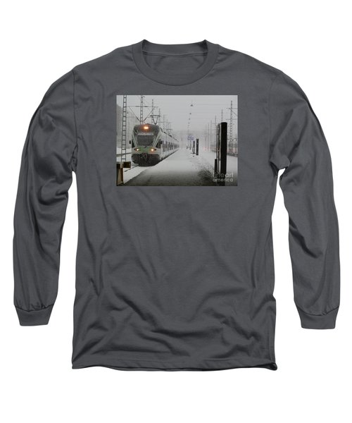 Train In Helsinki Long Sleeve T-Shirt