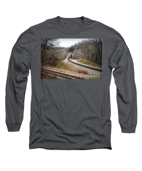 Train Tracks Across The New River - Radford Virginia Long Sleeve T-Shirt