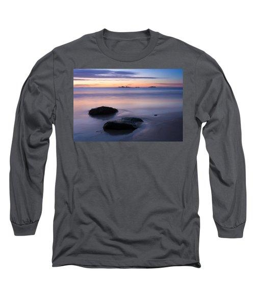 Tranquil Morning Singing Beach Long Sleeve T-Shirt