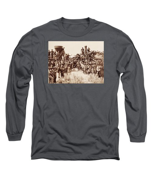 Transcontinental Railroad - Golden Spike Ceremony Long Sleeve T-Shirt