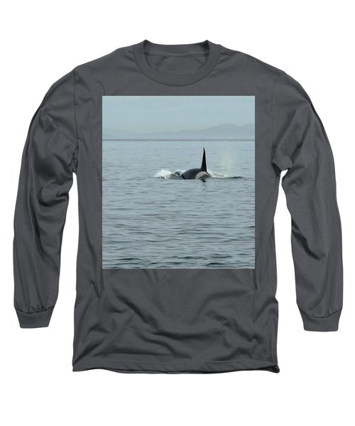 Transient Killer Whale Long Sleeve T-Shirt by Brian Chase