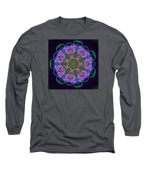Transition Flower 7 Beats Long Sleeve T-Shirt by Robert Thalmeier