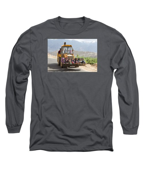Transport In Ladakh, India Long Sleeve T-Shirt
