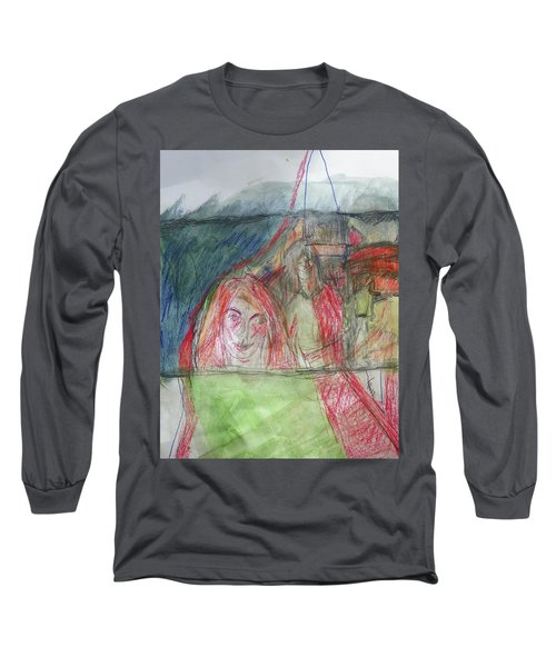 Travelers On The Train Long Sleeve T-Shirt