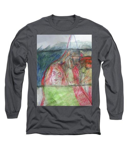 Travelers On The Train Long Sleeve T-Shirt