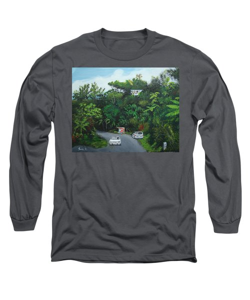 Traveling In Adjuntas Mountains Long Sleeve T-Shirt by Luis F Rodriguez