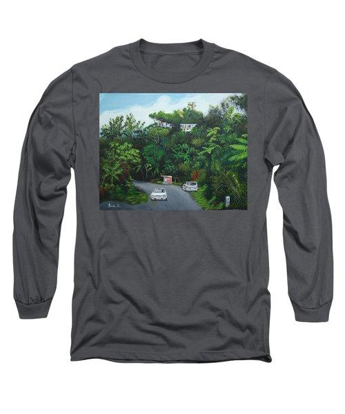 Traveling In Adjuntas Mountains Long Sleeve T-Shirt