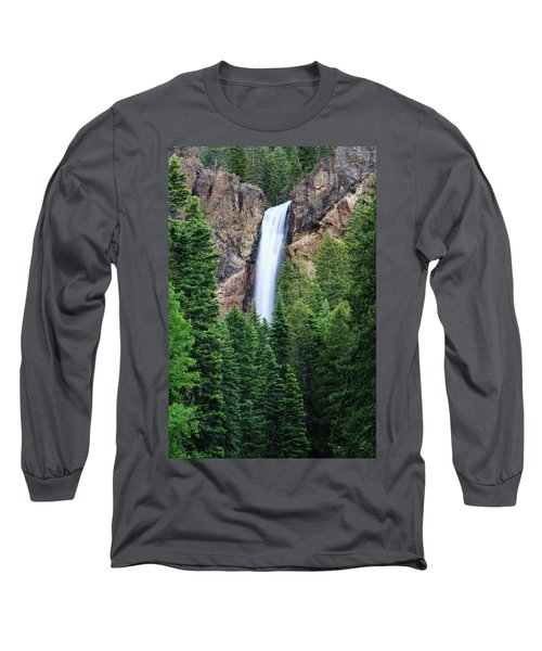 Long Sleeve T-Shirt featuring the photograph Treasure Falls by David Chandler