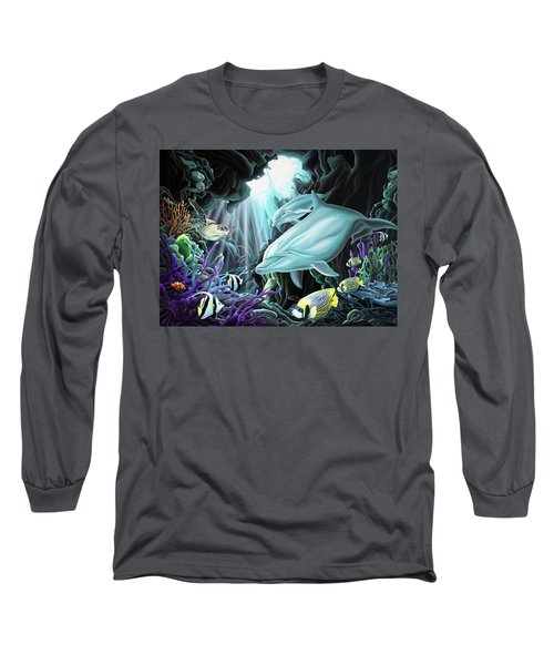 Long Sleeve T-Shirt featuring the painting Treasure Hunter by William Love