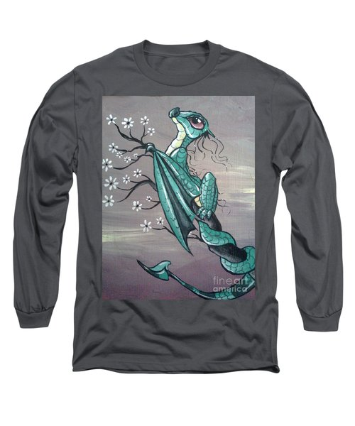 Long Sleeve T-Shirt featuring the painting Tree Dragon II by Mary Hoy