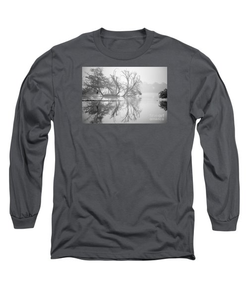 Tree In A Lake Long Sleeve T-Shirt by Pravine Chester