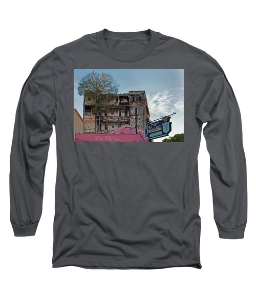 Long Sleeve T-Shirt featuring the photograph Tree In Building Over La Floridita Havana Cuba by Charles Harden