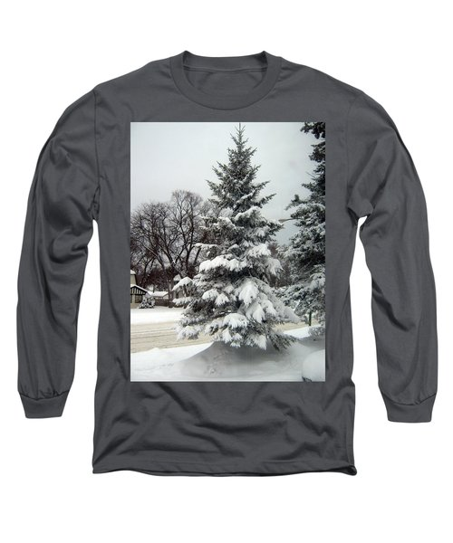 Tree In Snow Long Sleeve T-Shirt