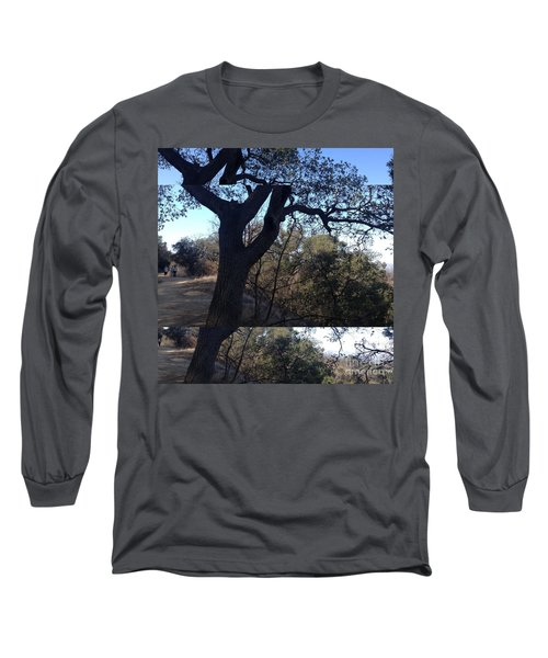 Tree Silhouette Collage Long Sleeve T-Shirt by Nora Boghossian