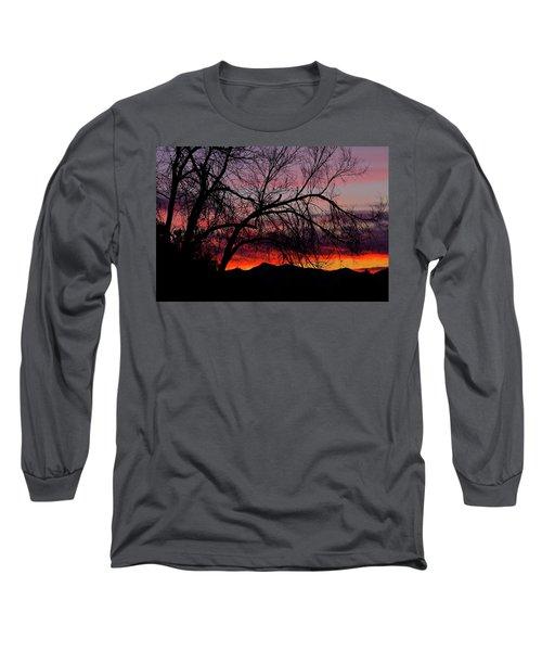 Tree Silhouette Long Sleeve T-Shirt by Paul Marto