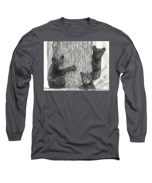 Tree Trio  Long Sleeve T-Shirt by Meagan  Visser