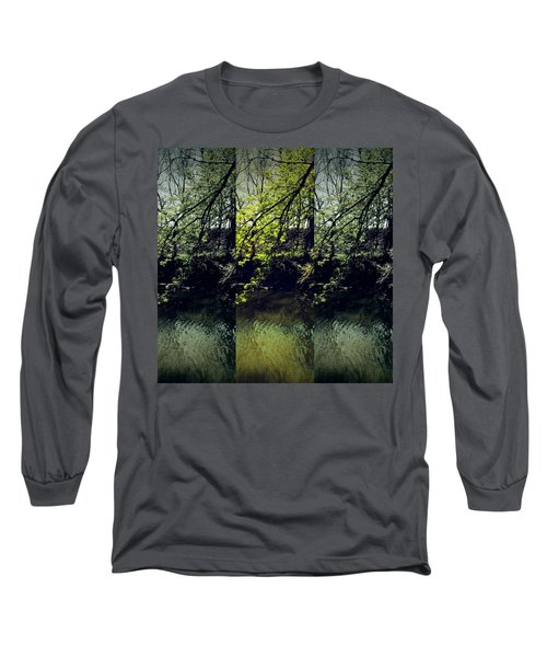 Tree Triptych Long Sleeve T-Shirt by Michele Carter