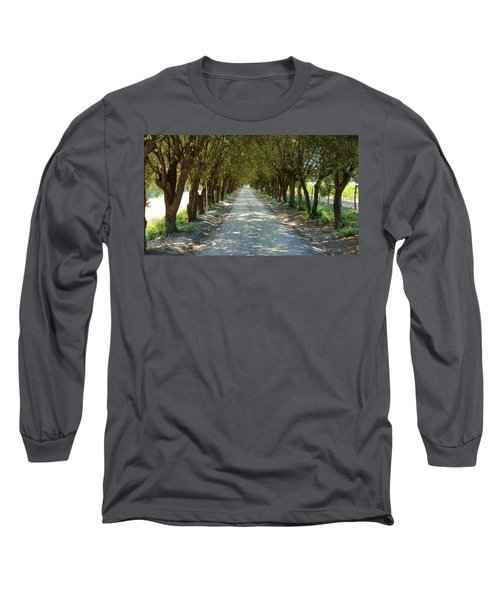 Long Sleeve T-Shirt featuring the photograph Tree Tunnel by Valentino Visentini