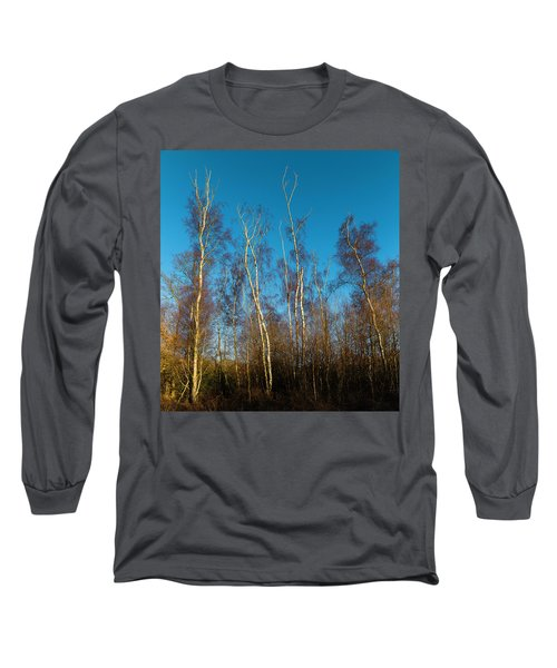 Trees And Blue Sky Long Sleeve T-Shirt