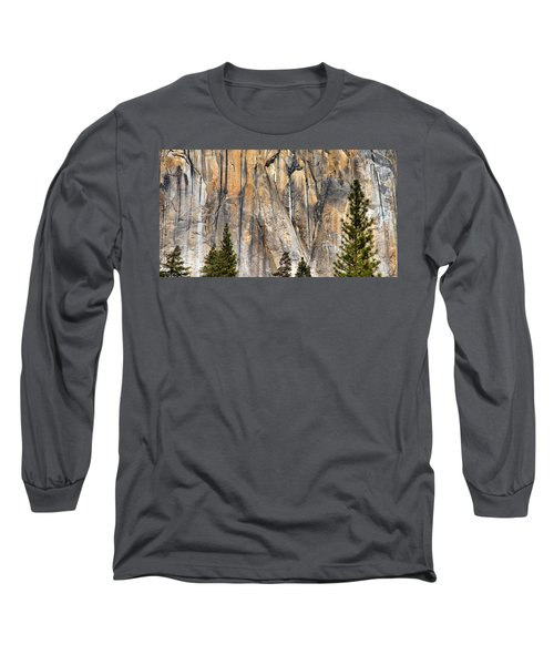 Trees And Granite Long Sleeve T-Shirt by Josephine Buschman