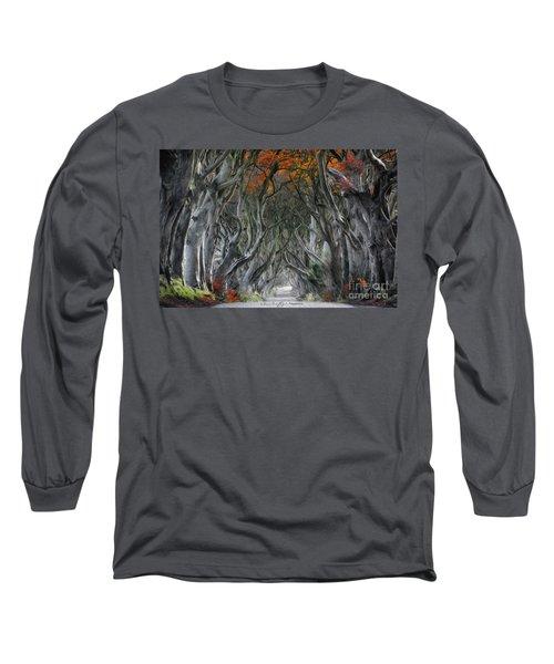 Trees Embracing Long Sleeve T-Shirt
