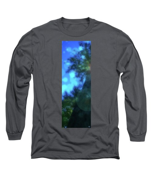 Trees Left Long Sleeve T-Shirt by Kenneth Armand Johnson
