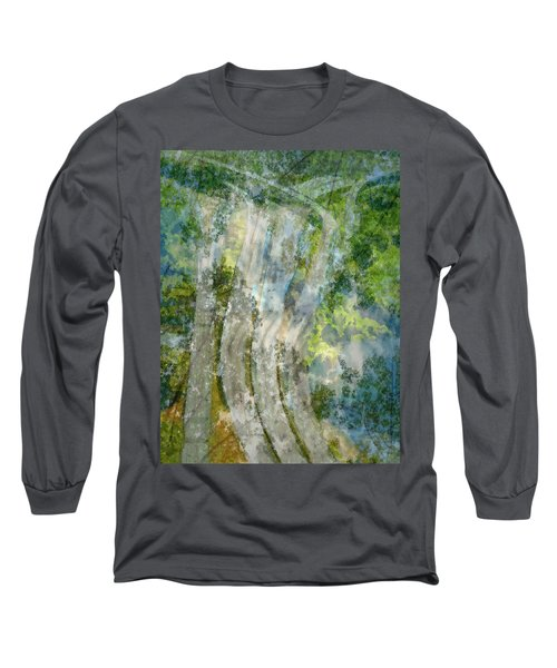 Trees Over Highway Long Sleeve T-Shirt