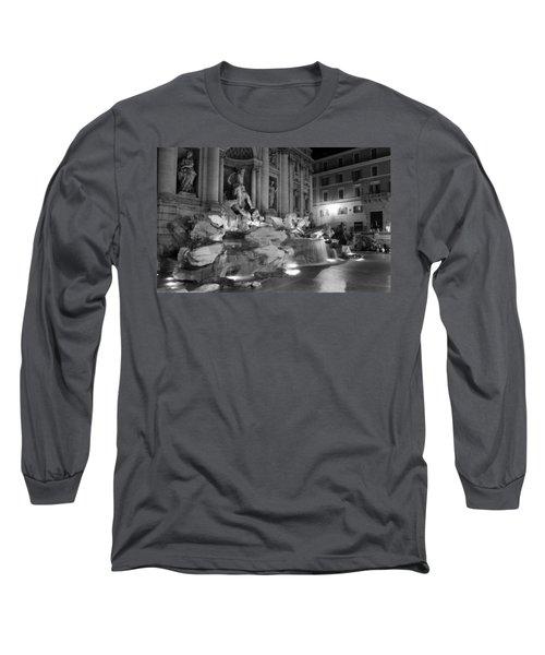 Trevi Fountain Night 2 Long Sleeve T-Shirt