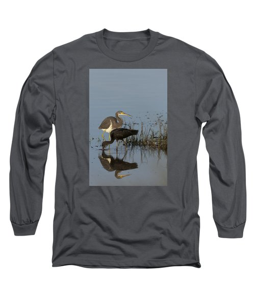 Tri-colored Heron And Glossy Ibis Long Sleeve T-Shirt