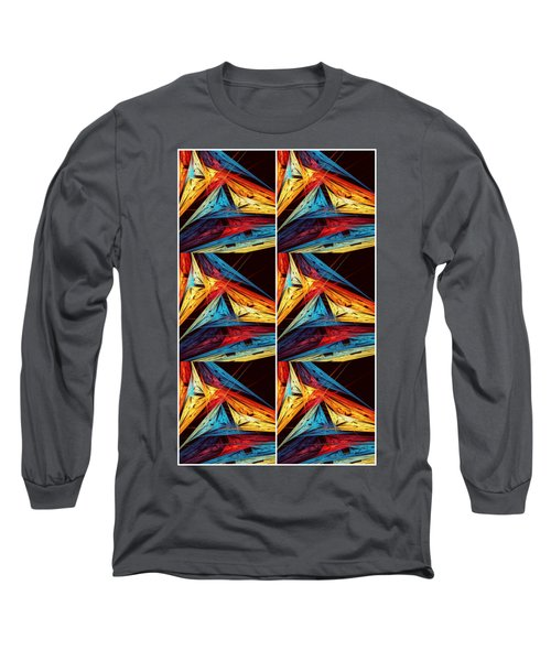Triangle In Colour Colors Of  Art Long Sleeve T-Shirt by Sheila Mcdonald