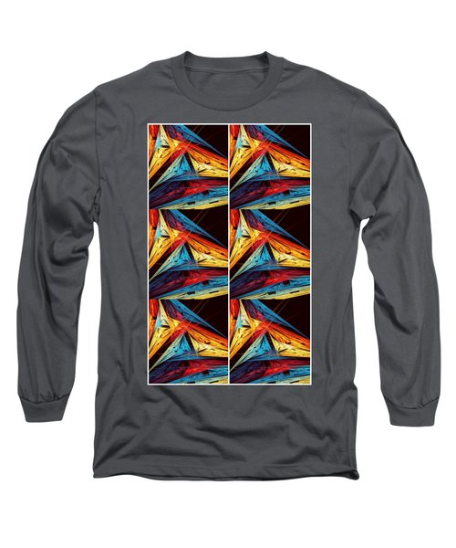 Triangle Decor Abstract Art Long Sleeve T-Shirt