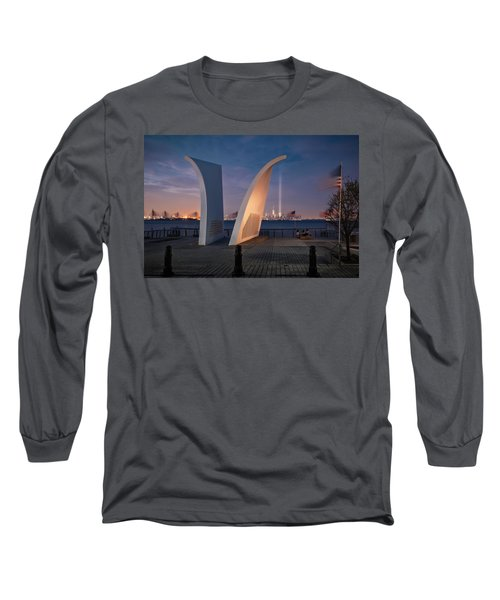 Tribute In Light Long Sleeve T-Shirt by Eduard Moldoveanu
