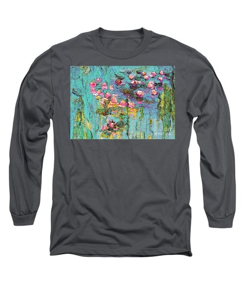 Tribute To Monet II Long Sleeve T-Shirt by Holly Martinson