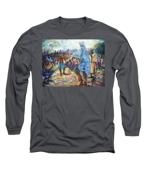Tribute To The Royal Fathers Long Sleeve T-Shirt by Bankole Abe