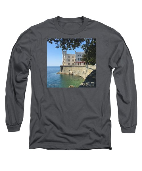 Trieste- Miramare Castle Long Sleeve T-Shirt
