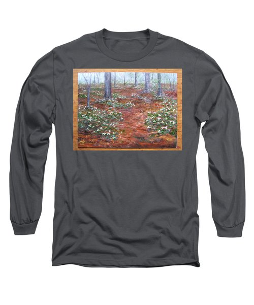 Trilliums After The Rain Long Sleeve T-Shirt
