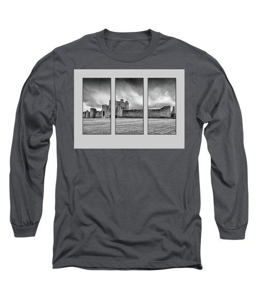 Trim Castle Triptych  Long Sleeve T-Shirt by Martina Fagan