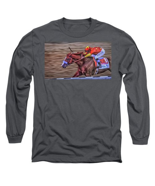 Triple Crown Winner Justify Long Sleeve T-Shirt