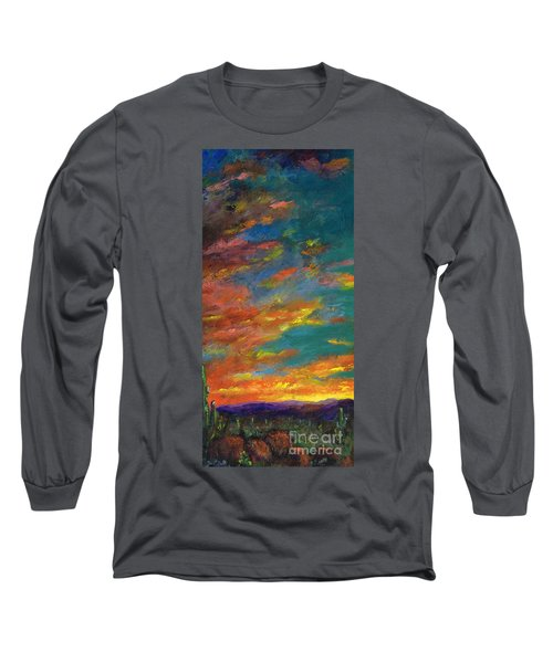 Triptych 1 Desert Sunset Long Sleeve T-Shirt