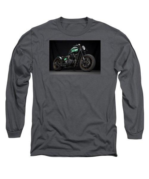 Triumph Green Bobber Long Sleeve T-Shirt