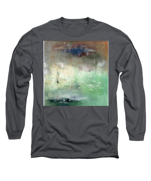 Long Sleeve T-Shirt featuring the painting Tropic Waters by Michal Mitak Mahgerefteh
