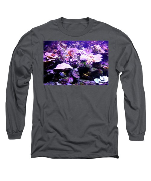 Long Sleeve T-Shirt featuring the photograph Tropical Aquarium by Francesca Mackenney