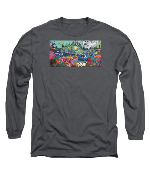Tropical Fish Colors Long Sleeve T-Shirt by Jeffrey Koss