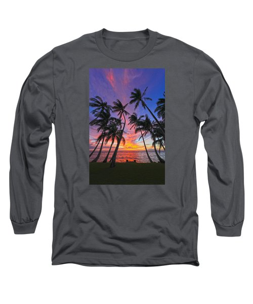 Tropical Nights Long Sleeve T-Shirt by James Roemmling