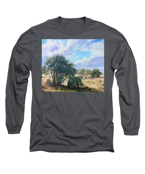 Tropical Orange Grove Long Sleeve T-Shirt by AnnaJo Vahle
